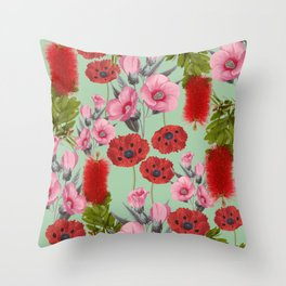 Bushland Florals Throw Pillow