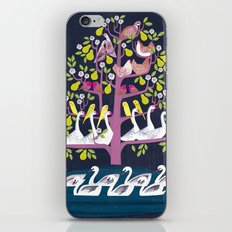 7 Days of Christmas or ∑ summation of holiday birds iPhone & iPod Skin