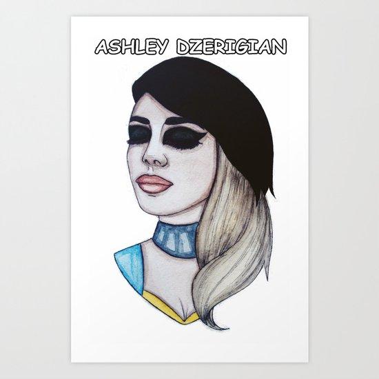 Miss Ashley Dzerigian Art Print