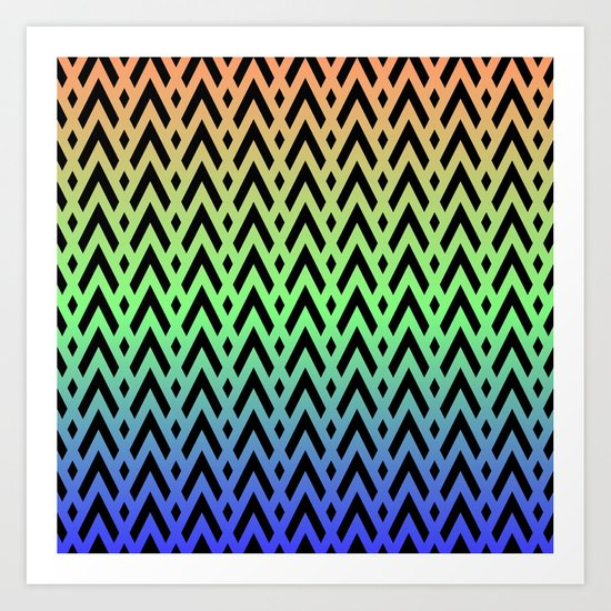 Chevrons & Diamonds Art Print