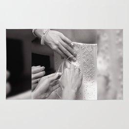 Bridal wedding dress buttons Rug