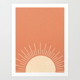 Sunrise pink Art Print