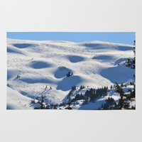 skiing Area & Throw Rugs featuring Back-Country Skiing - II by Alaskan Momma Bear