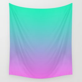 Pink turquoise , blue Ombre Wall Tapestry