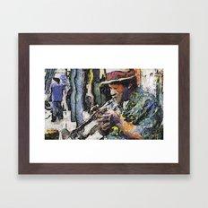 Frenchman St. Flavor Framed Art Print