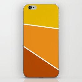 Diagonal Color Blocks in Yellow and Orange iPhone Skin
