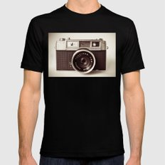 Camera LARGE Mens Fitted Tee Black