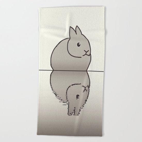 rabbit-15 Beach Towel