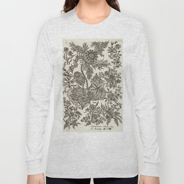 Vintage Floral Textile Design Long Sleeve T-shirt