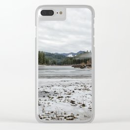 Fish Lake Emerging No. 2 Clear iPhone Case
