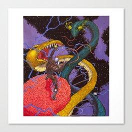 Transhuman Vanquishes Double Helix Canvas Print