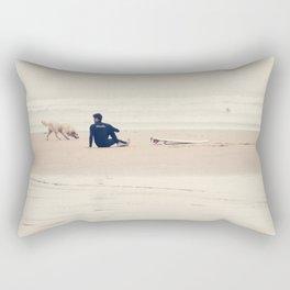 beach yoga Rectangular Pillow