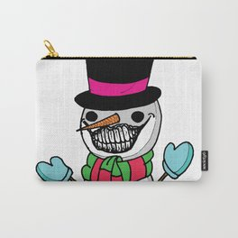 Happy Little Snowman Carry-All Pouch