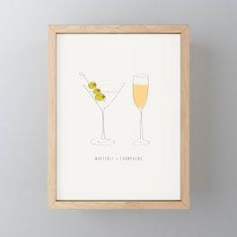 Martinis + Champagne Framed Mini Art Print