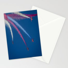 Red Arrows 1,2,3,  Stationery Cards