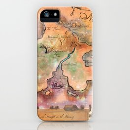 Never Land Map iPhone Case