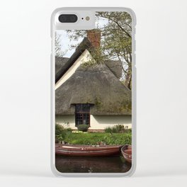 Constable Thatched Bridge Cottage, Flatford Clear iPhone Case