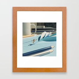 Summer sport Framed Art Print