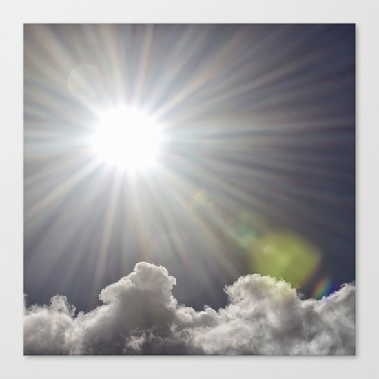Lens flare sunflash  Canvas Print