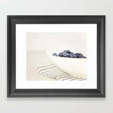 Blueberries in Bowl - Kitchen Art - Food Photography Framed Art Print