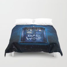 Tardis doctor who with Bad wolf graffiti iPhone 4 4s 5 5s 5c, ipod, ipad case Duvet Cover