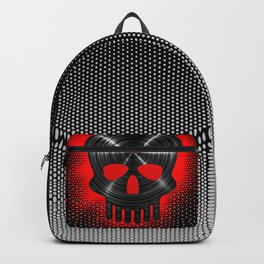 Vinyl Skull RED / The end of tunes Backpack