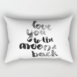 "SLATE ""LOVE YOU TO THE MOON AND BACK"" QUOTE Rectangular Pillow"