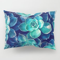 Plants of Blue And Green Pillow Sham