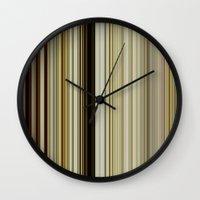 stripe Wall Clocks featuring Stripe by Fine2art