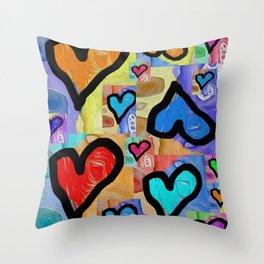 Art Beat Heartbeat Love Street Pop Throw Pillow