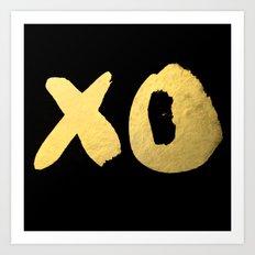 XO black Art Print