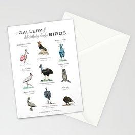 A Gallery of Delightfully Doofy Birds Stationery Cards