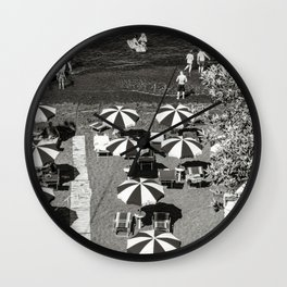 Amazing black pebble beach near Maratea, Basilicata, Italy Wall Clock