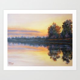 water and sky Art Print
