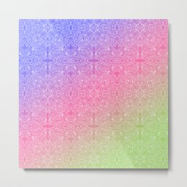 talk about a neon morning doodle, bright Metal Print