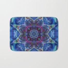 Karlion- Blue Art- Kaleidescopes- Wall Art- Pattern Art- Abstract Art- Fractal Art- Spirograph Bath Mat