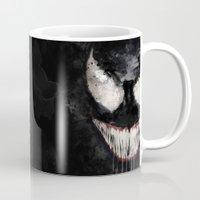 venom Mugs featuring Venom by Scofield Designs