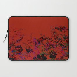 Red Grunge Floral Laptop Sleeve