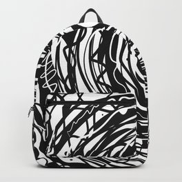Black and White Abstraction #3 Backpack