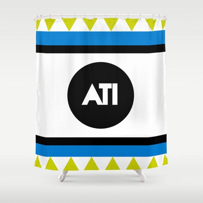 ATI Logo Print Aspire To Inspire Shower Curtain