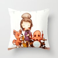 band Throw Pillows featuring Jam Band  by FlyOkay