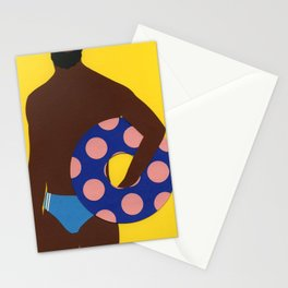 Man On The Beach Stationery Cards
