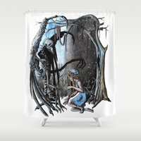 nightmare Shower Curtains featuring Nightmare by Ju.jo.weh