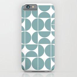 Mid Century Modern Geometric 04 Glass Blue iPhone Case