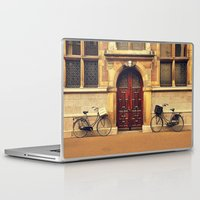bicycles Laptop & iPad Skins featuring Two Bicycles by Indigo Rayz