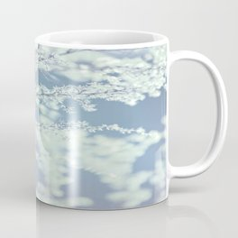 Ice Blue Delicate Flowers Coffee Mug