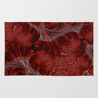 weed Area & Throw Rugs featuring Red Weed by Steve Purnell