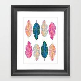 feather fully Framed Art Print