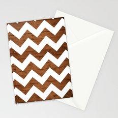 Chevron Wood Stationery Cards