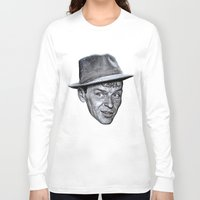 frank sinatra Long Sleeve T-shirts featuring FRANK SINATRA by Jahwan by JAHWAN